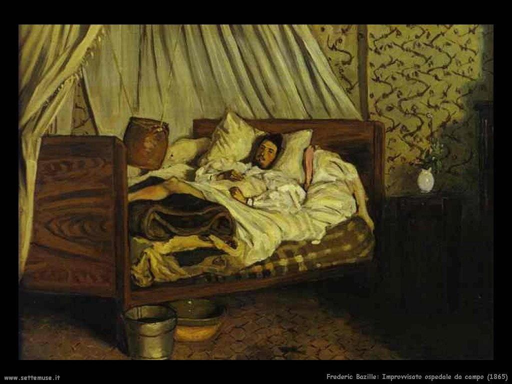 Frederic Bazille_improvvisato_ospedale_da_campo_1865