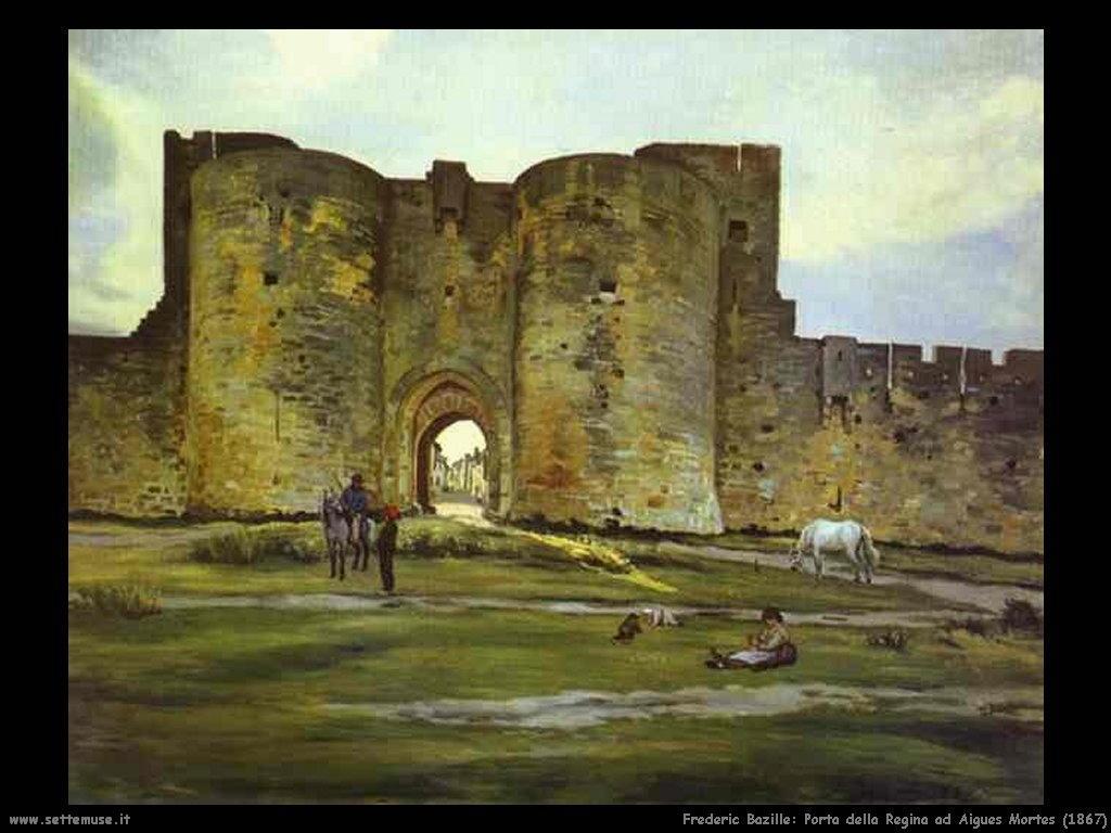 Frederic Bazille_porta_regina_aigues_mortes_1867