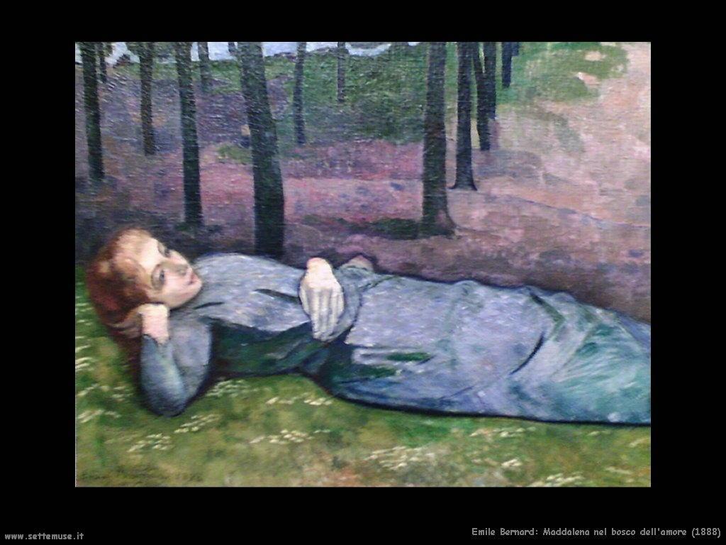 emile_bernard_maddalena_nel_bosco_dell_amore_1888