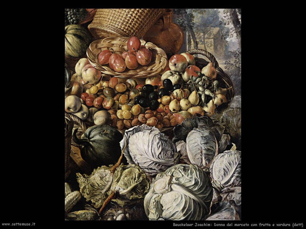 Donna del mercato con frutta e verdura (dett)