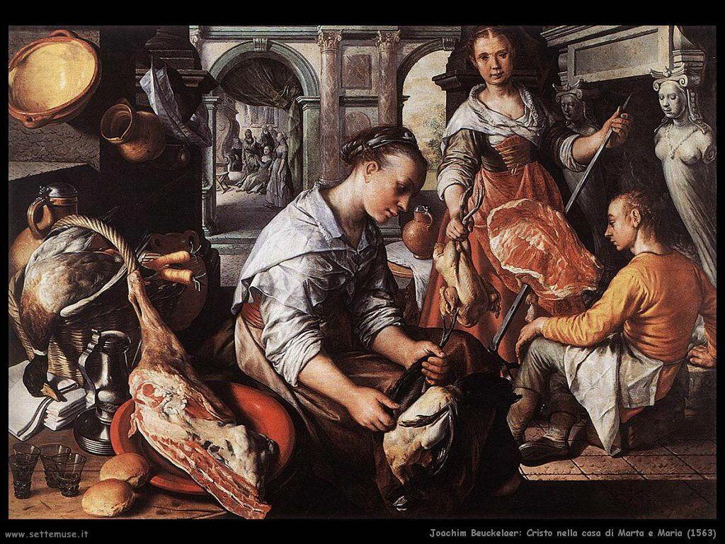 Joachim Beuckelaer  Cristo nella casa di Marta e Maria (1563)