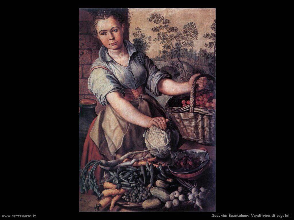 Venditrice di vegetali