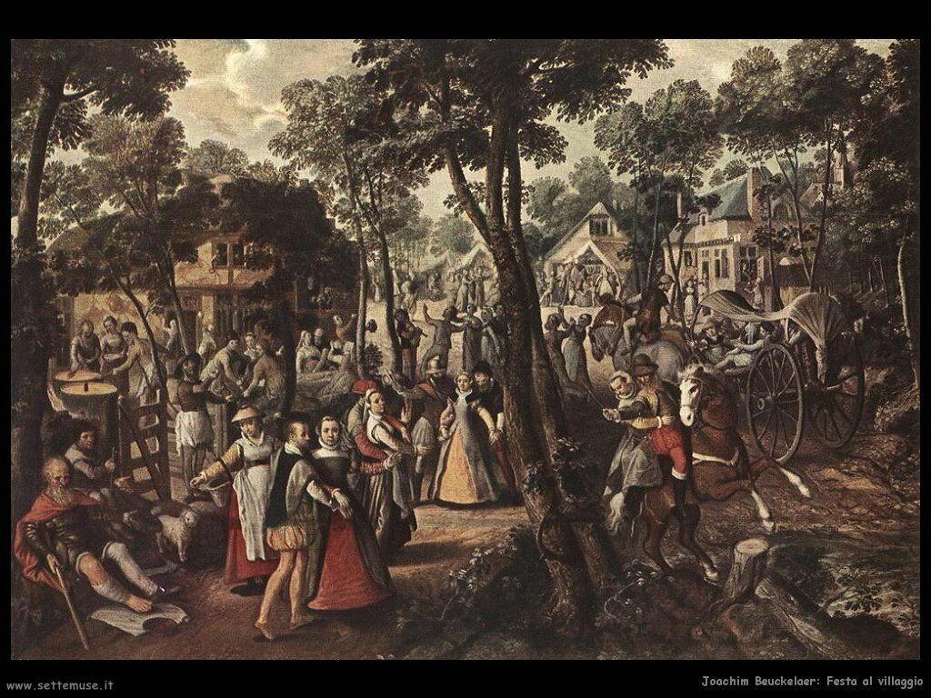 Joachim Beuckelaer  Festa al villaggio