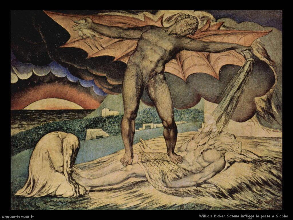 Satana infligge la peste a Giobbe