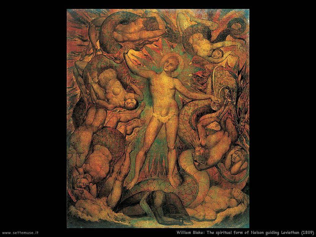 La forma spirituale di Nelson guida Leviathan (1809)
