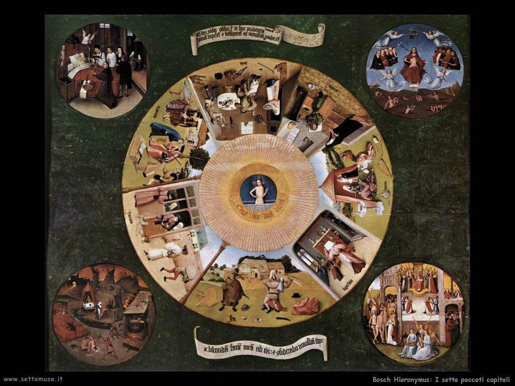 bosch opere sette peccati