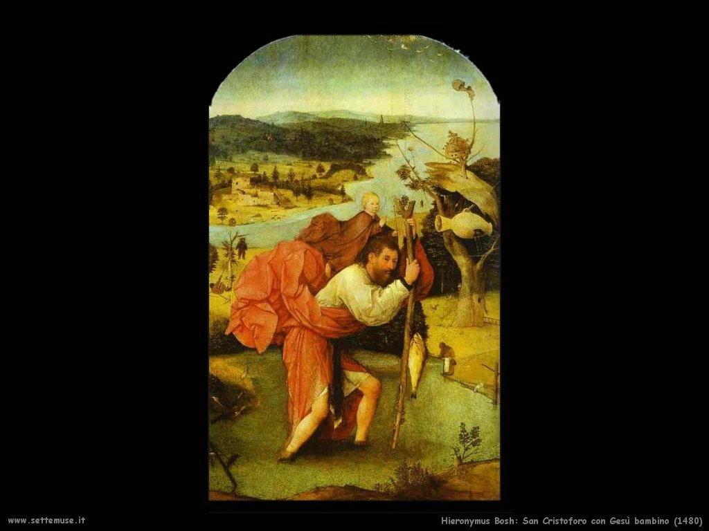 San Cristoforo con Gesù bambino (1480)