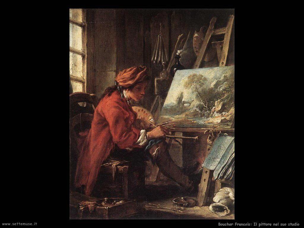 Il pittore nel suo studio