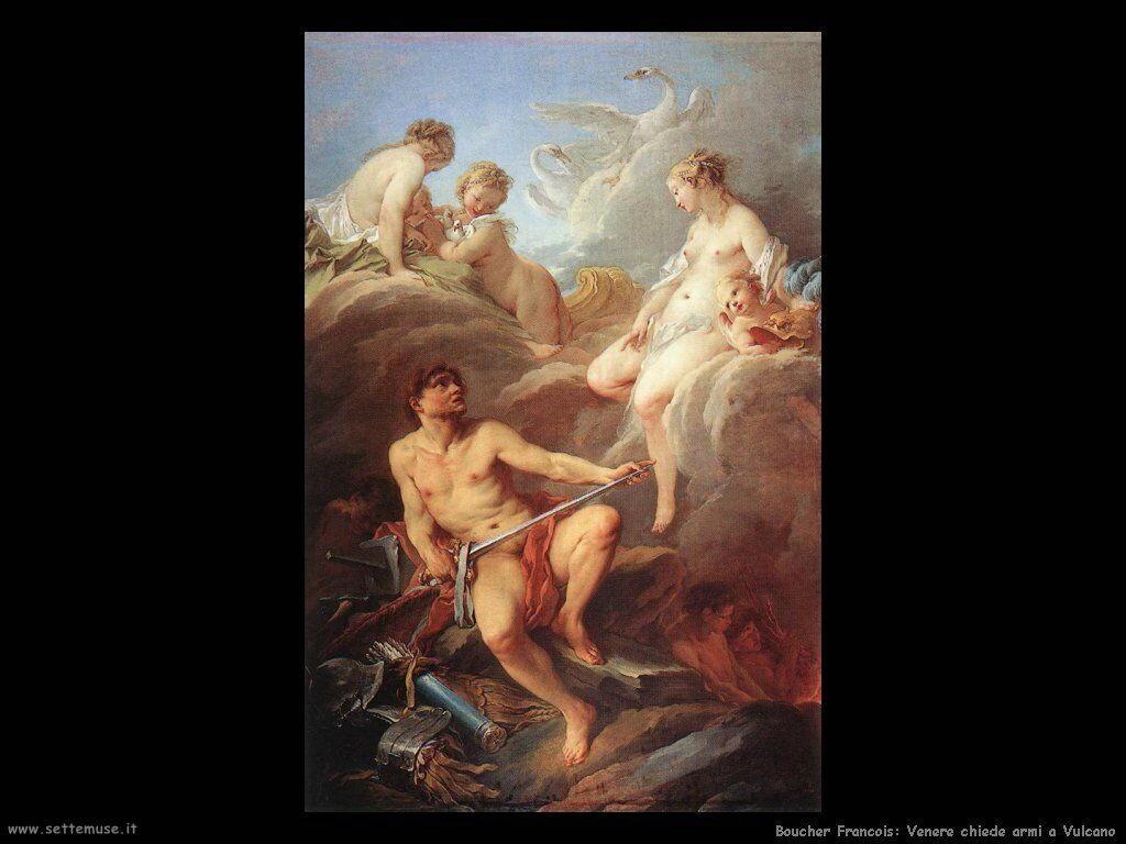 Venere chiede armi a Vulcano
