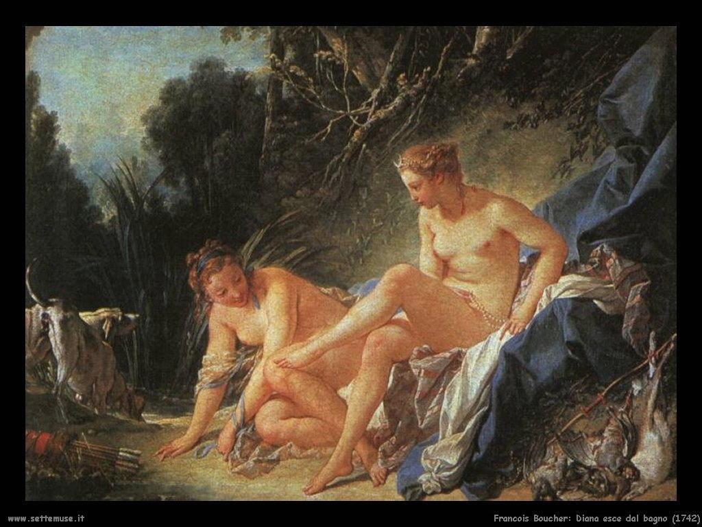 Diana esce dal bagno (1742)