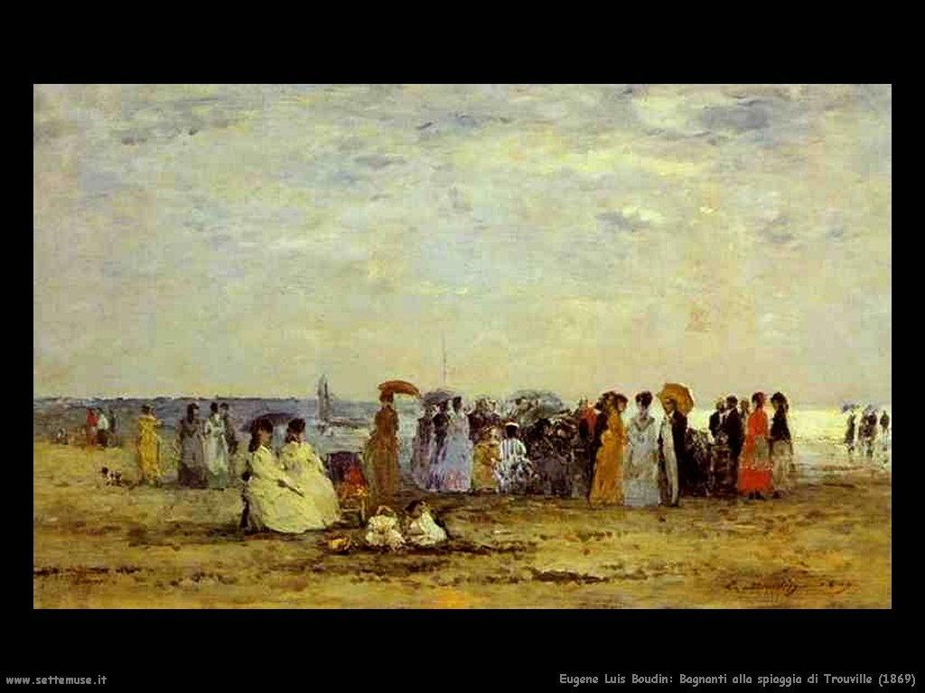 Eugène Louis Boudin_bagnanti_alla_spiaggia_trouville_1869