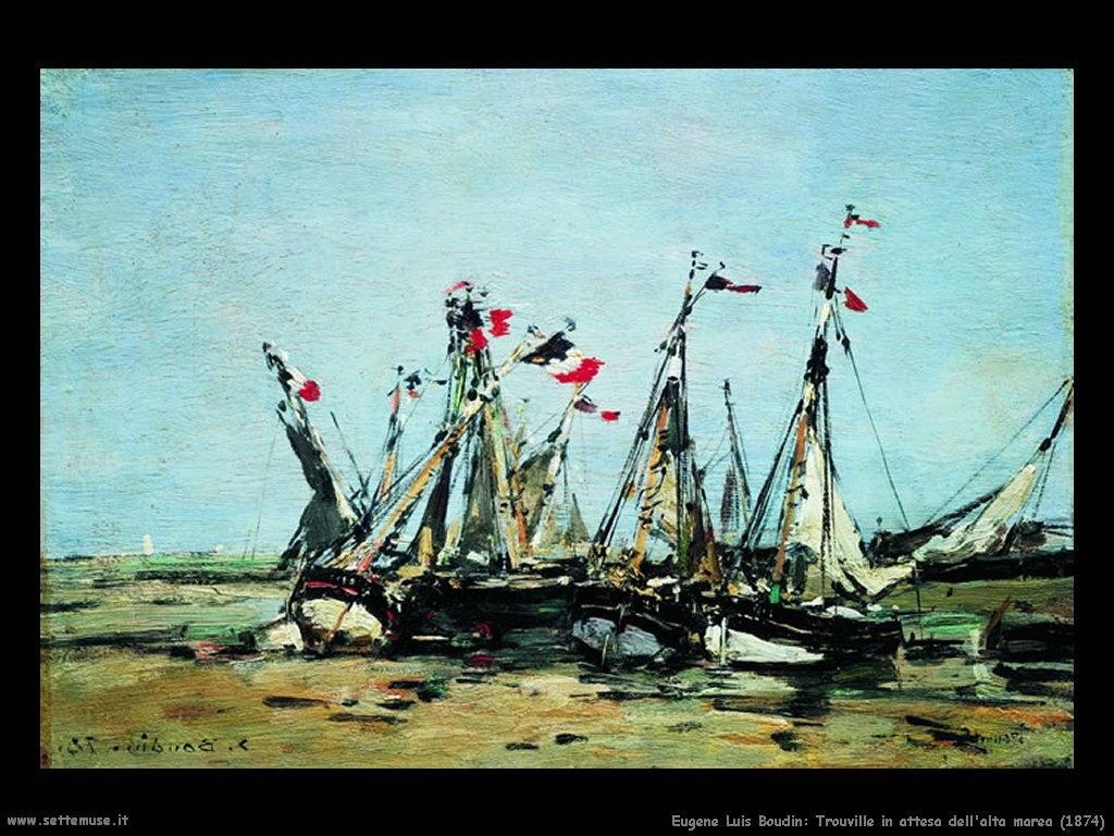 Eugène Louis Boudin_trouville_attesa_alta_marea_1874