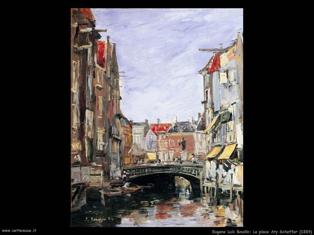 Eugène Louis Boudin_la_place_ary_scheffer_1884