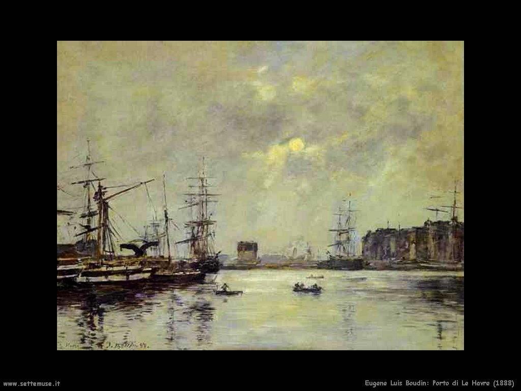 Eugène Louis Boudin_porto_di_le_havre_1888