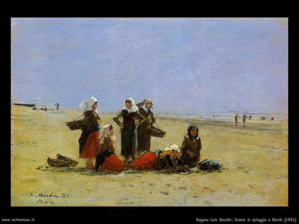 Eugène Louis Boudin_donne_in_spiaggia_a_berck_1881