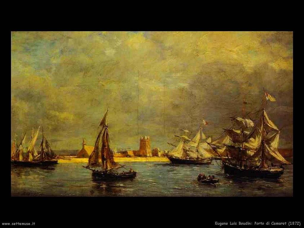 Eugène Louis Boudin_porto_di_camaret_1872