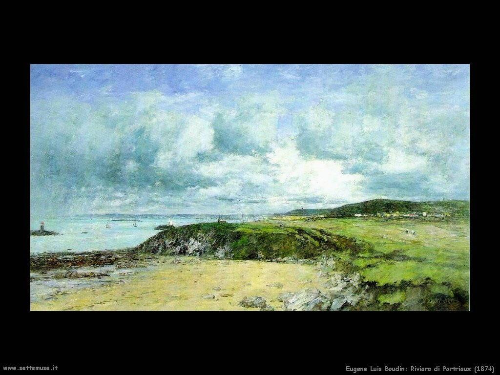 Eugène Louis Boudin_Riviera_di_Portrieux_1874