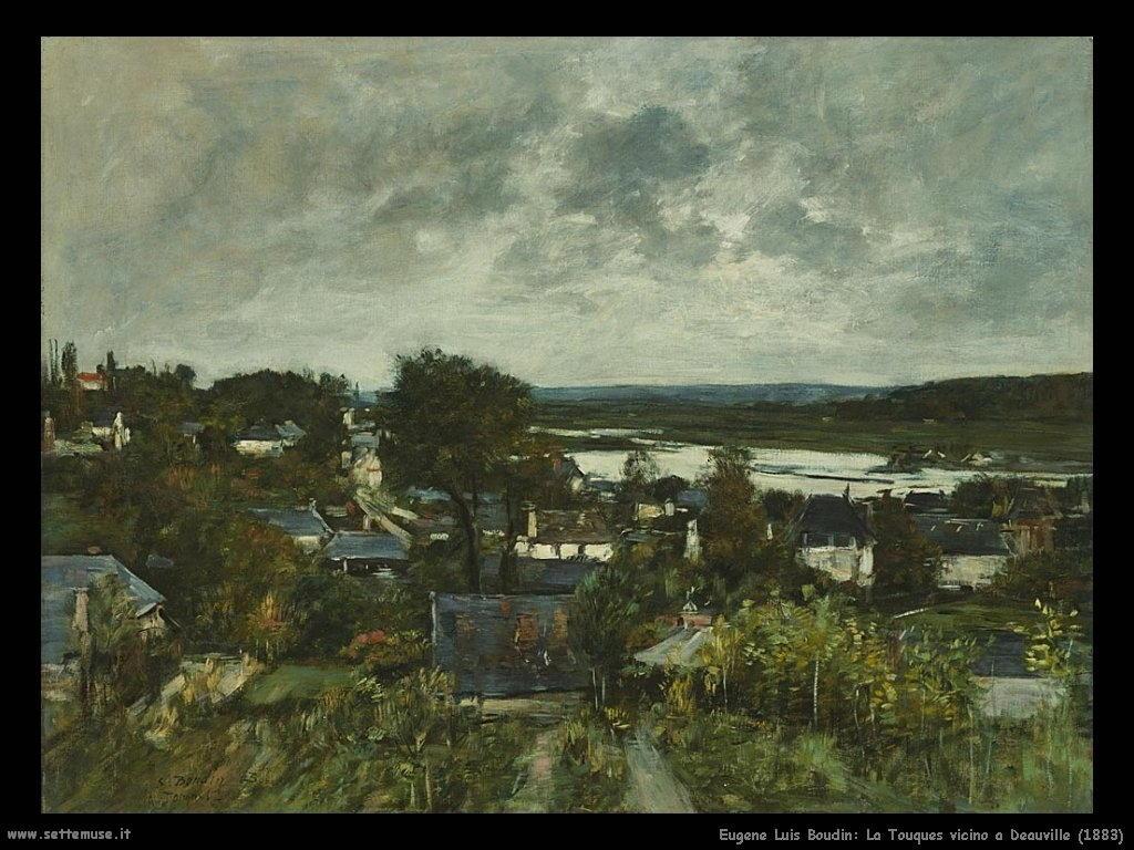 Eugène Louis Boudin_La_Touques_vicino_a_Deauville_1883
