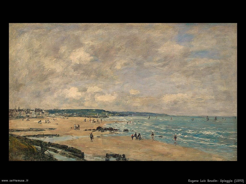 Eugène Louis Boudin_spiaggia_1893
