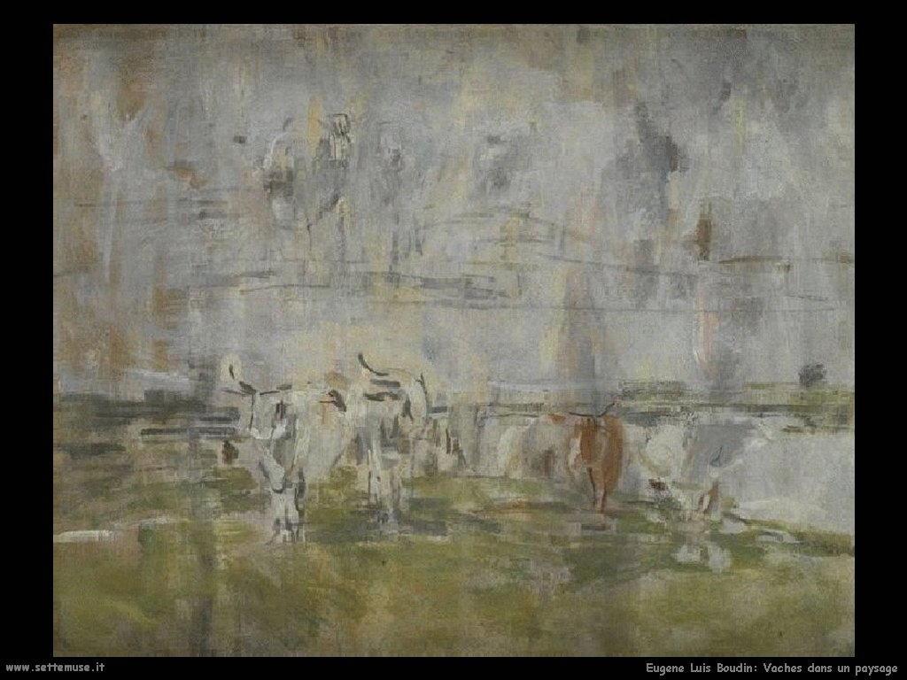 Eugène Louis Boudin_Vaches dans un paysage
