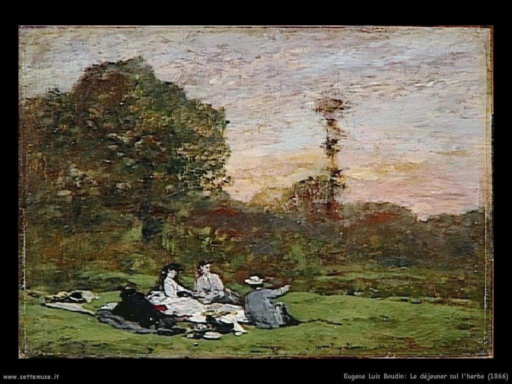 Eugène Louis Boudin_Le_déjeuner_sur_l_herbe_1866