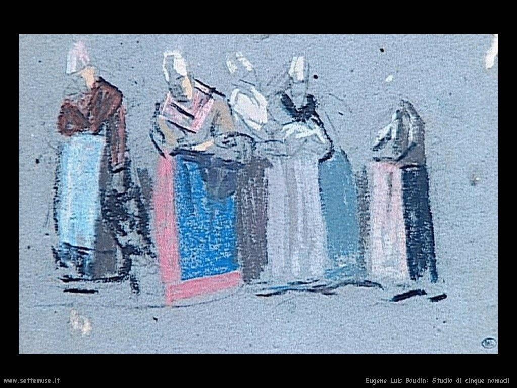Eugène Louis Boudin_studio_di_cinque_nomadi