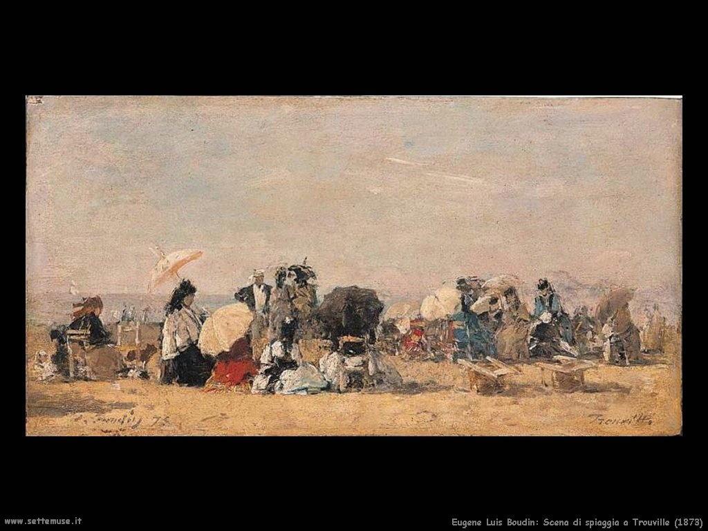 Eugène Louis Boudin_Beach_Scene_Trouville_1873