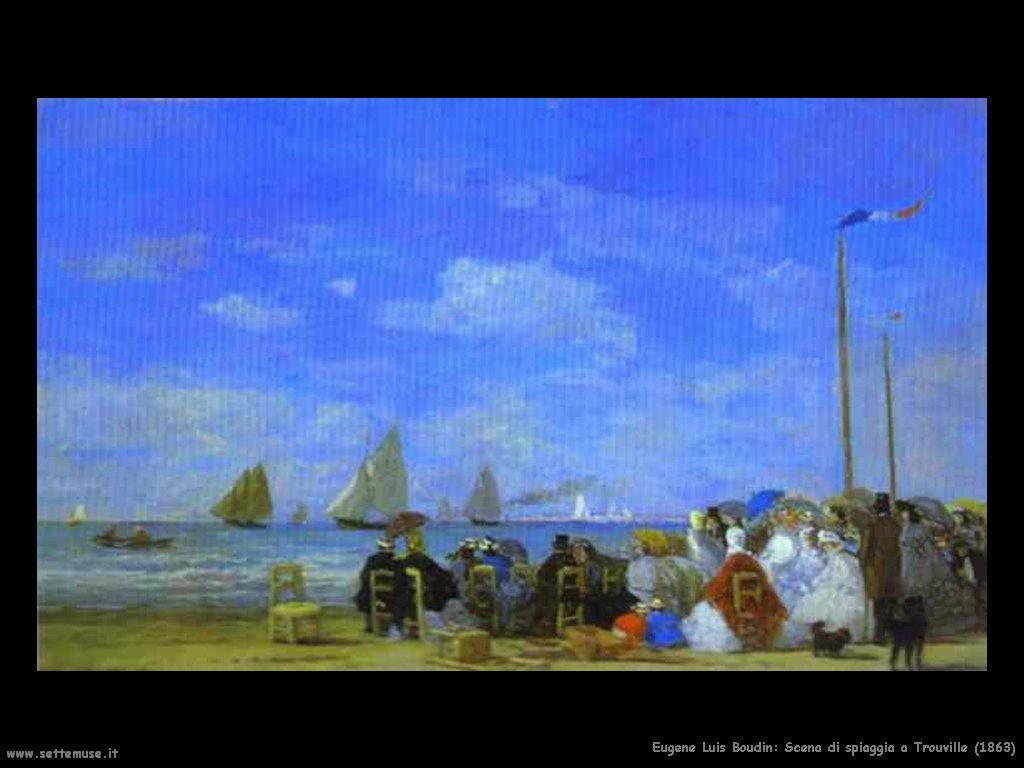 Eugène Louis Boudin_Spiaggia di Trouville_1863