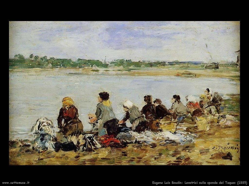 Eugène Louis Boudin_lavatrici_sulla_sponda_del_Touques_1885