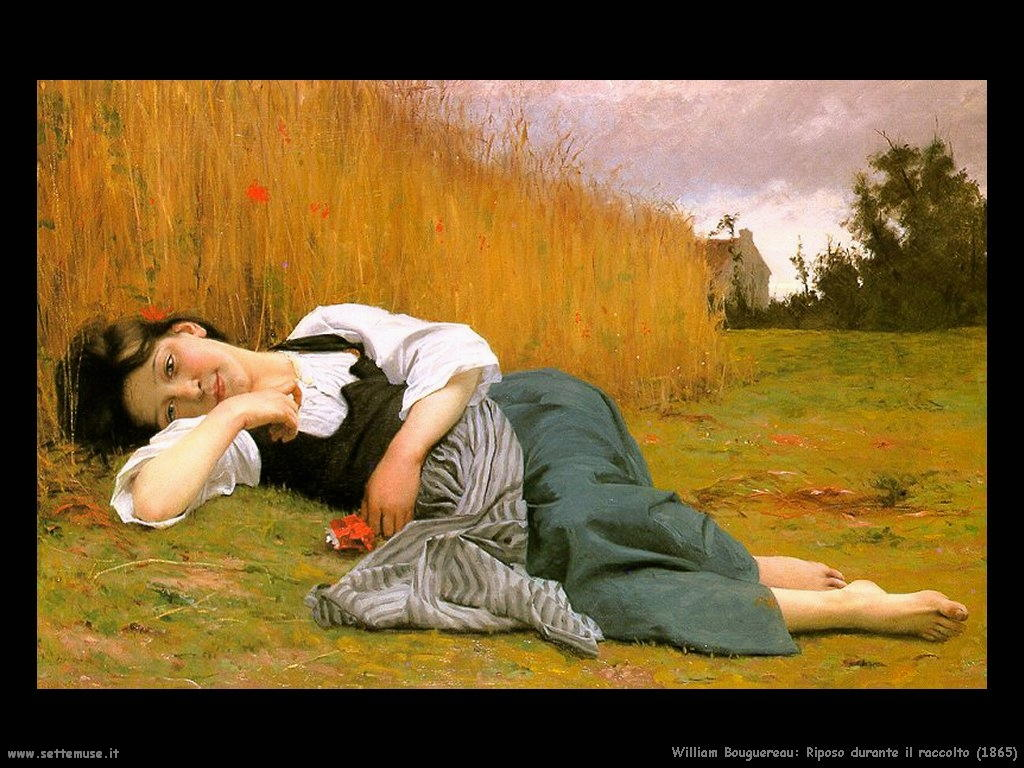 William Bouguereau_riposo_al_raccolto_1865
