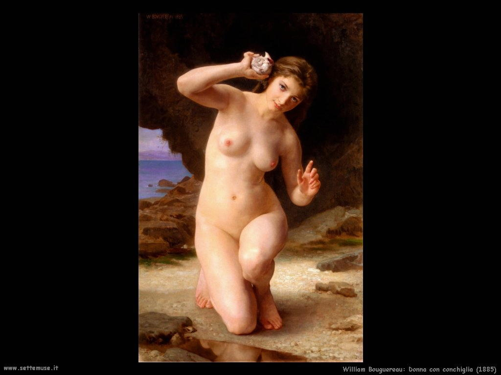 William Bouguereau_donna_con_conchiglia_1885