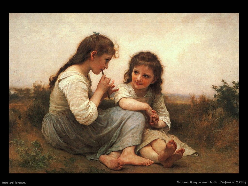 William Bouguereau_idilli_di_infanzia_1900