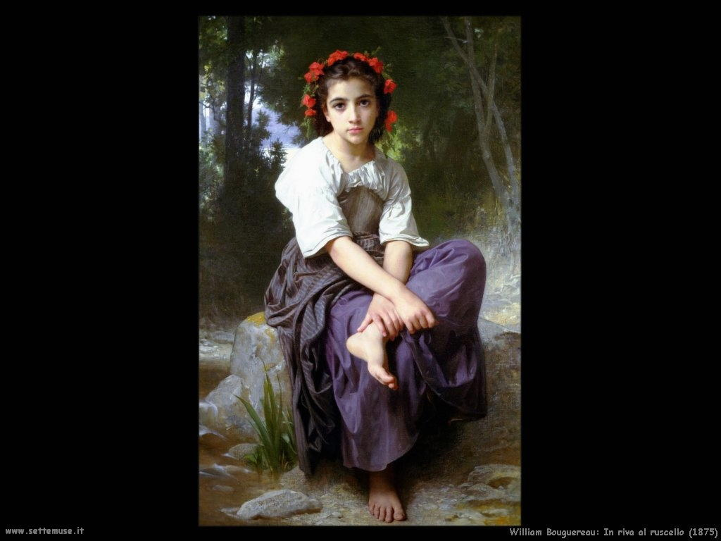 William Bouguereau_in_riva_al_ruscello_1875