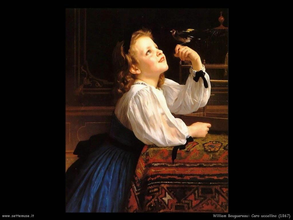 William Bouguereau _caro_uccellino_1867