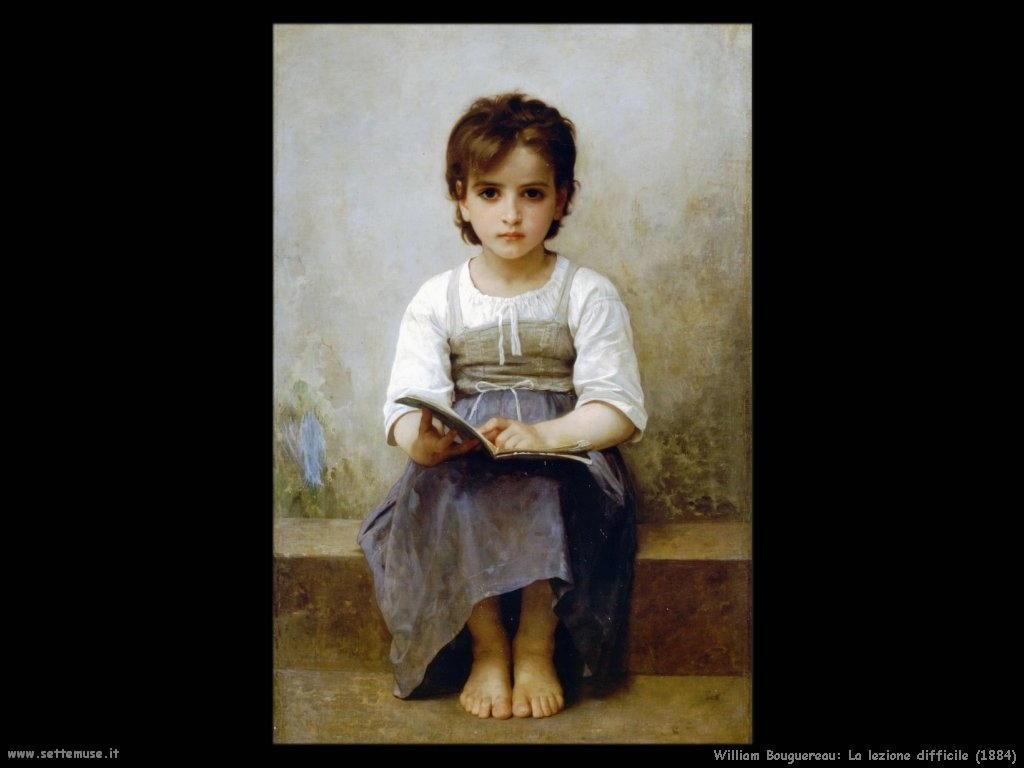 William Bouguereau _la_lezione_difficile_1884