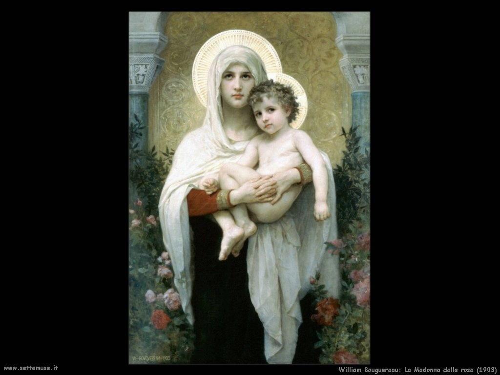 William Bouguereau _madonna_delle_rose_1903