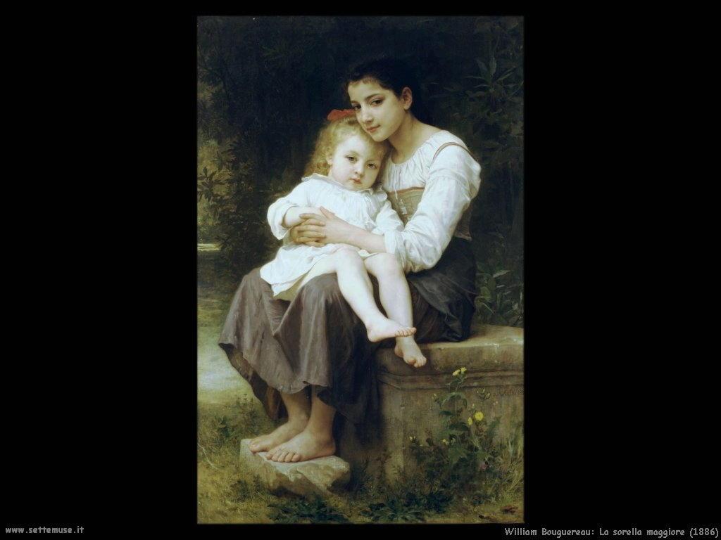 William Bouguereau _sorella_maggiore_1886