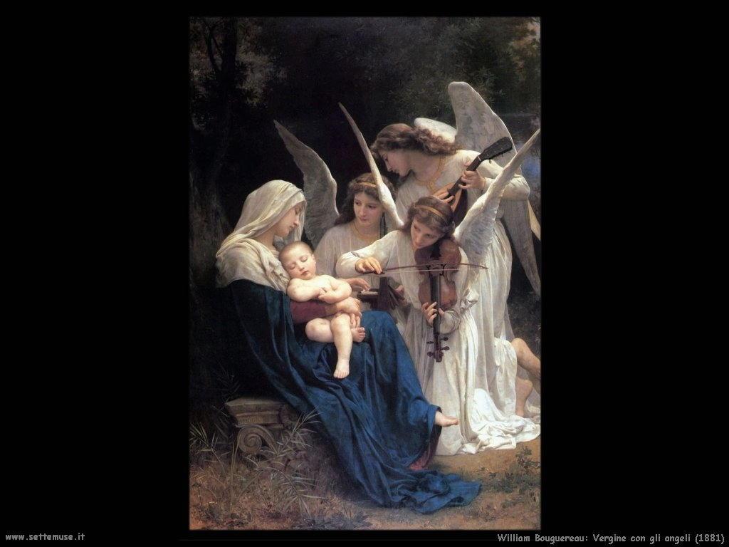 William Bouguereau _vergine_con_gli_angeli_1881
