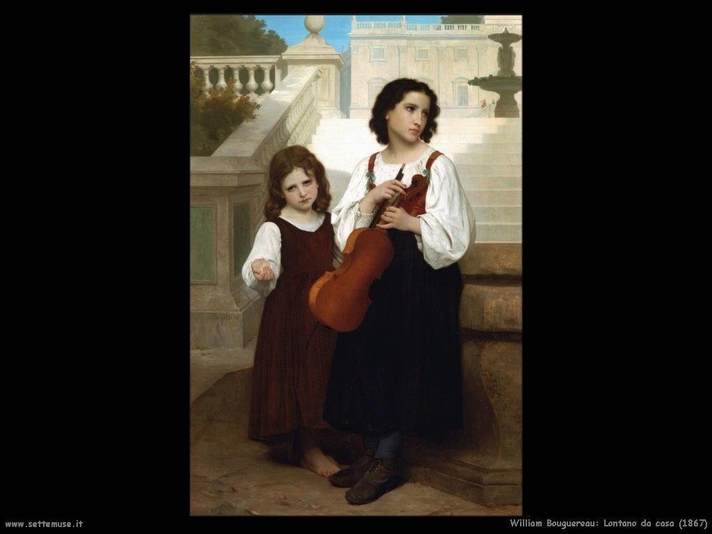 William Bouguereau _lontano_da_casa_1867