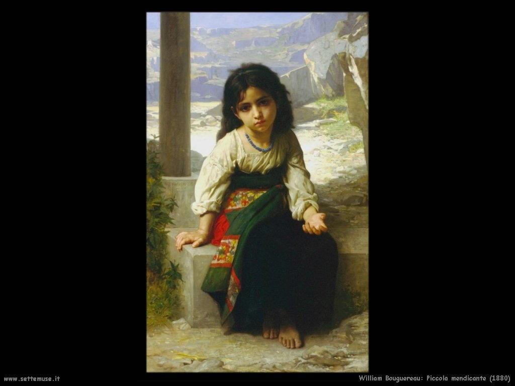 William Bouguereau _piccola_mendicante_1880