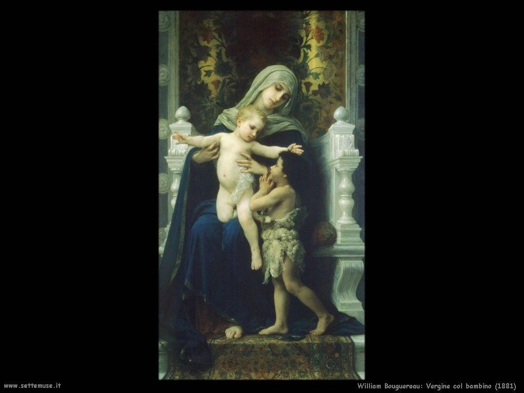 William Bouguereau _vergine_col_bambino_e_san_giovanni_1881