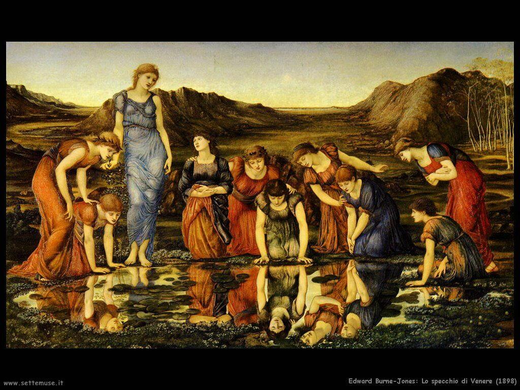 edward_burne_Jones_lo_specchio_di_venere_1898