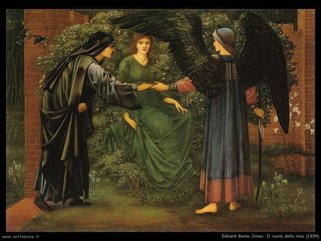 edward_burne_Jones_il_cuore_della_rosa_1889
