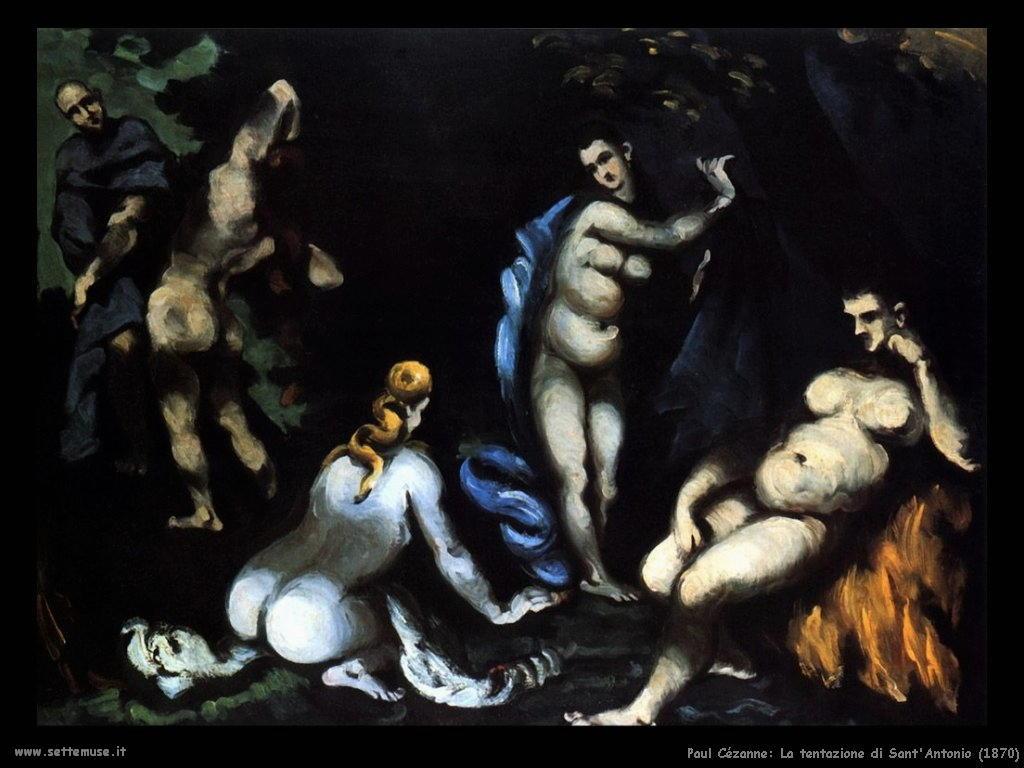 La tentazione di Sant'Antonio Paul Cezanne