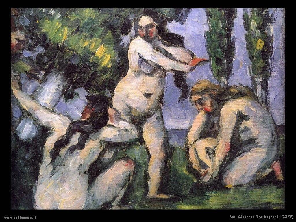 Tre bagnanti (1875) Paul Cézanne