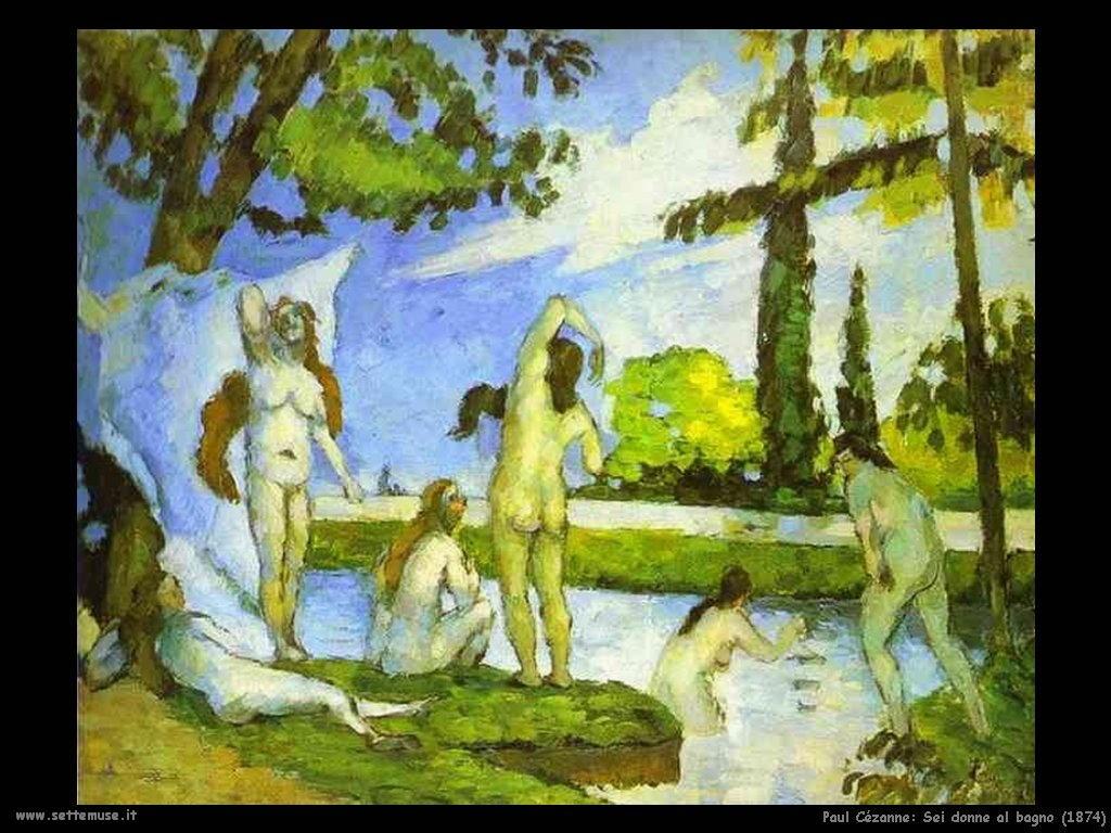 Se donne al bagno (1874) Paul Cézanne