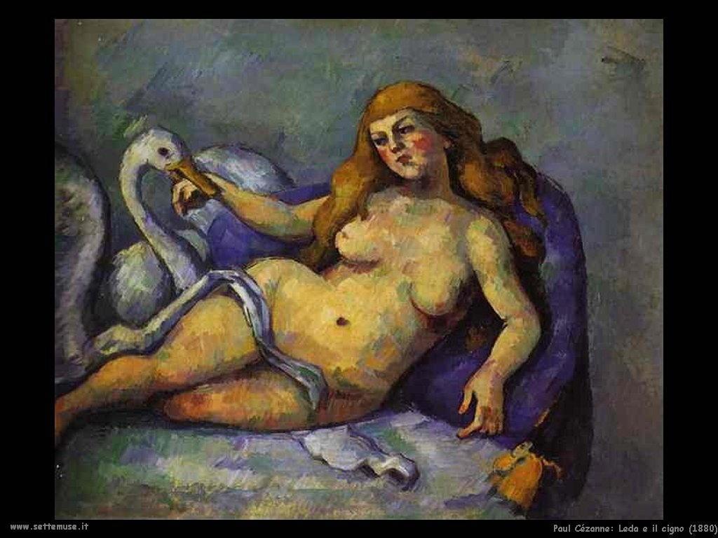 Leda e il cigno (1880) Paul Cézanne