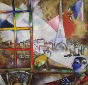 Marc Chagall  Parigi dalla finestra 1913