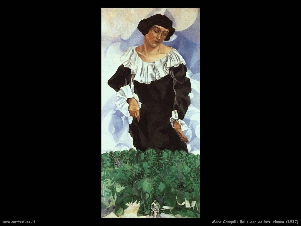 Marc Chagall_bella_con_collare_bianco_1917
