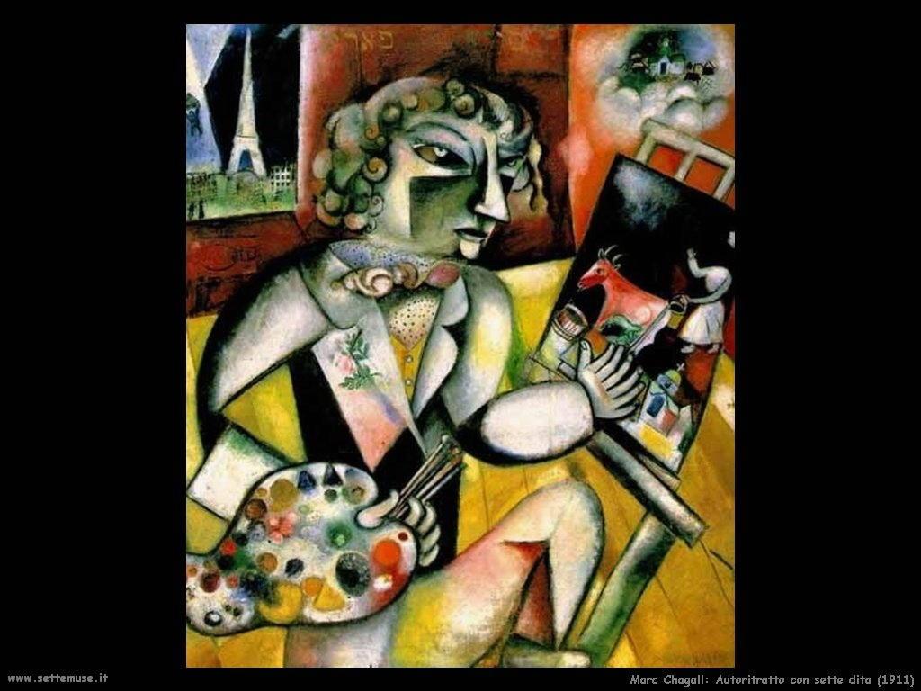 Marc Chagall autoritratto con sette dita 1911